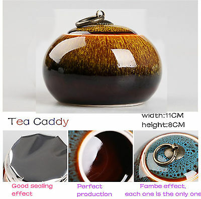 China Fambe tea caddies colorful tea pot storage canister Ceramic tea jar box