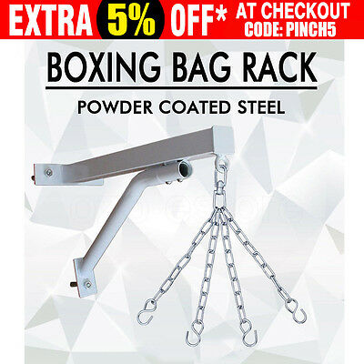 Heavy Duty Punch Bag Wall Bracket Steel Mount Boxing Hanging Stand Training MMA
