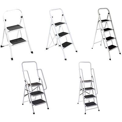 2 3 4 Step Ladder Anti-Slip Rubber Mat Tread Steel Folding Iron Frame DIY