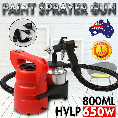 New 3-Way Nozzle 650W Paint Sprayer Gun HVLP Electric DIY Spray Station Air Tool