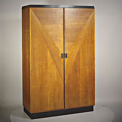 Wardrobe Art - Deco, Oak & Black, 1930s (delivery available)