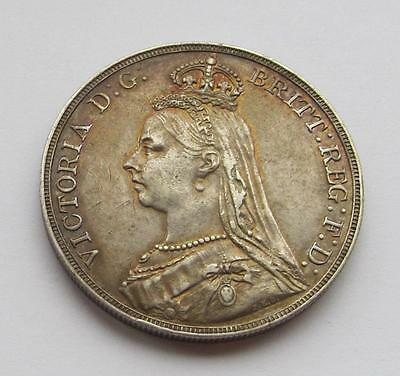 Victoria 1892 Jubilee Head Crown  -  Excellent collectable coin Good VF