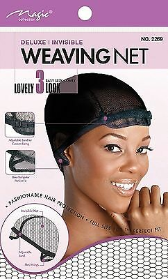 Deluxe Weaving Net/cap | Adjustable Band | Invisible | Comfortable | Black |2269