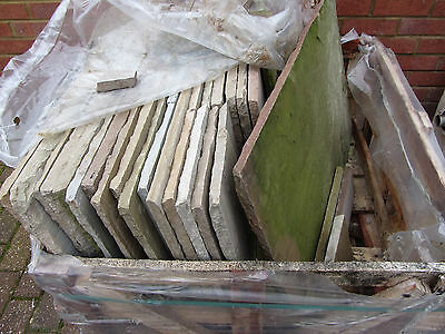 Indian Sandstone Paving Slabs - Buff coloured - approx 9.3sq metre