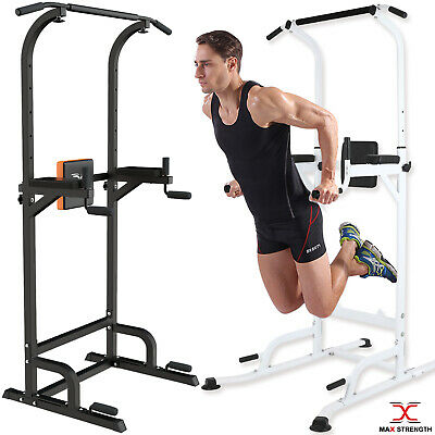 Multi Gyms Power Tower Dip Station Vertical Knee Raise Pull Chin Up Push Workout