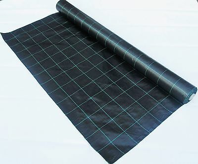 4m Wide Weed Control Landscape Fabric Membrane Ground Cover, 100 GSM Heavy Duty