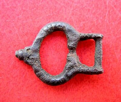Ancient Viking Bronze Belt Buckle