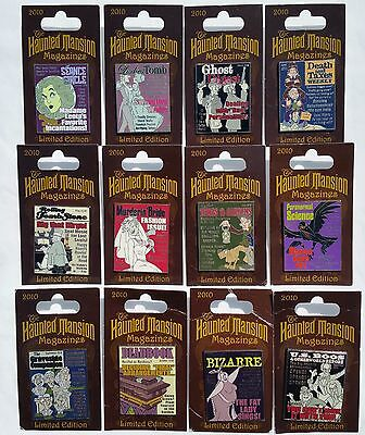 Disney 2010 Haunted Mansion Magazines **complete** Set Of All 12 Le 2500 Pins