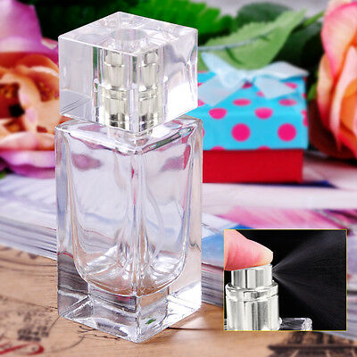 50ml Empty Refillable Perfume Rectangle Atomiser Aftershave Travel Spray Bottle