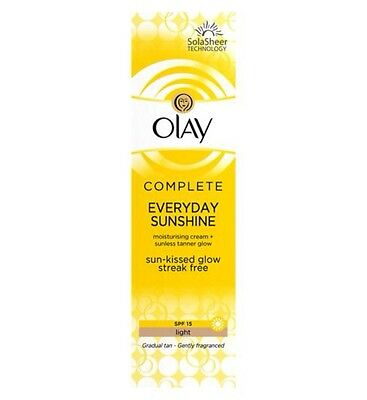 Olay SPF15 Complete Everyday Sunshine Cream With Sunless Tanner Light 50ml