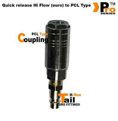 Quick release PCL Type to Hi Flow (euro) Coupling - Easily covert PCL to Euro