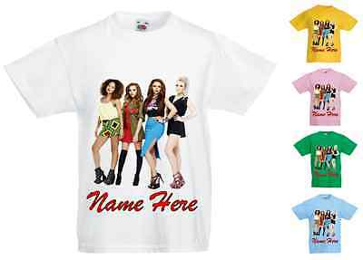 Childrens Kids Personalised Printed T-Shirt Various Colours - Little Mix