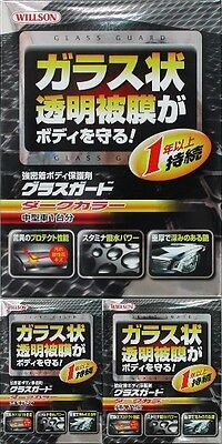 New!! Willson Body Glass Guard Coating Care 3 Size for Dark Cars Japan Import