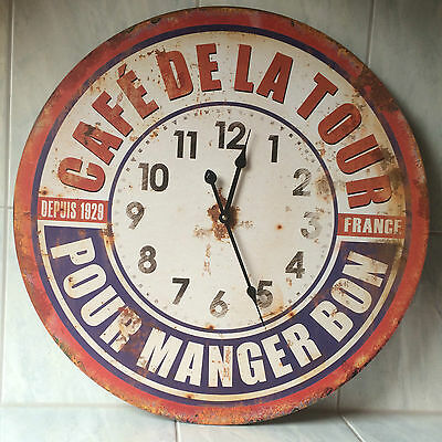 Wall clock metal rusty look 58 cm Kitchen Living room shabby chic Nostalgia new