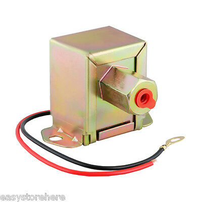 Electric Fuel Pump 12 volt Solid State 2 to 4psi 20-30GPH Petrol Facet Universal