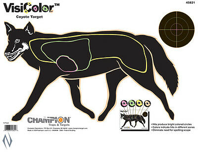 "visicolor fox targets, 16"" x 11"" Hi Viz when hit! for Rifle shooting 10 x pack"