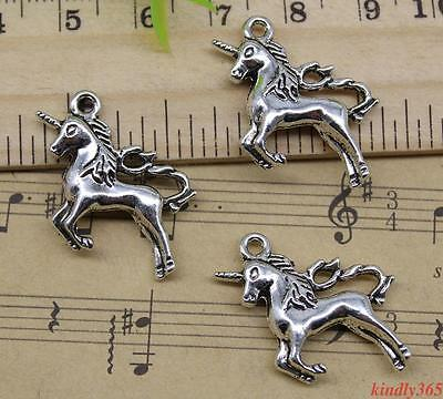 Lot 4~50pcs Retro Jewelry Making DIY Unicorn  Alloy Charm Pendant 26x23mm