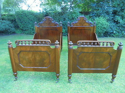 Good Pair Antique Mahogany Single Beds