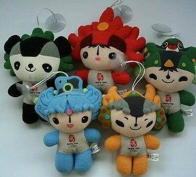 BEIJING Olympic Games 5 mascot`s For   2008  RARE In Box