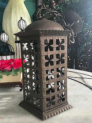 Moroccan Spanish Five Sides Iron-Metal Electric Lantern For Repair