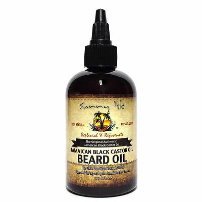 100% Natural Sunny Isle Jamaican Black Castor Beard Oil 4oz