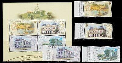 2000 Singapore Different Post Offices And Old Cancellations Buildings Mnh