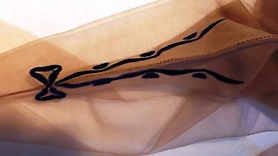 1950's Fully Fashioned Nylon Seamed Stockings w/Blue Velvet Bows ~ Very Rare -9
