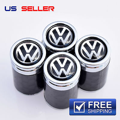 Volkswagen Valve Stem Caps Carbon Fiber Wheel Tire - Us Seller Vc18