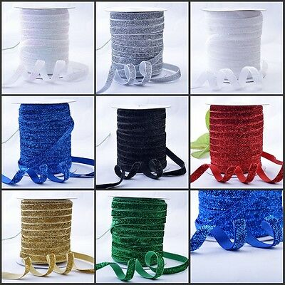 10 20 25mm Glitter Velvet Ribbon Wedding Christmas Gift Wrap Assorted Colour