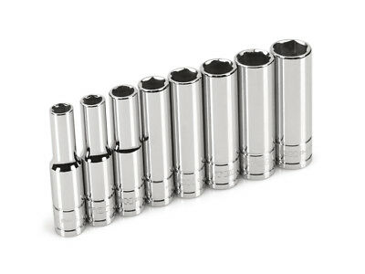 TEKTON 12141 - 1/4 in. Drive Deep Socket Set (5.5-12mm)
