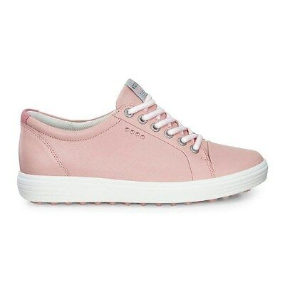 Ecco Womens Casual Hybrid Golf Shoes Silver Pink Size 38 (UK 5-5.5)
