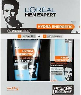 L'Oreal men expert hydra energetic barbershop collection.