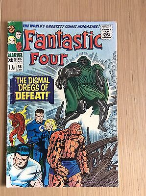 Fantastic Four # 58  The Dismal Dregs of Defeat. VG++ Condition