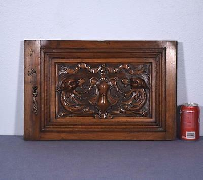 *French Antique Renaissance Revival Panel/Door in Walnut Wood with Griffons 1