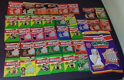 Spice Girls Walkers Crisps 36 Empty Packets Posh Baby Ginger Sporty Scary 1997
