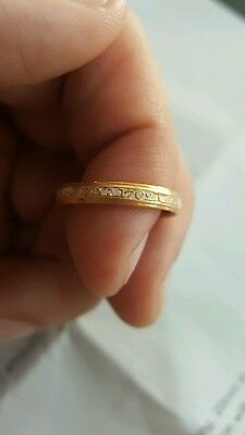 gold and white enamel mourning ring 1762 metal detecting find