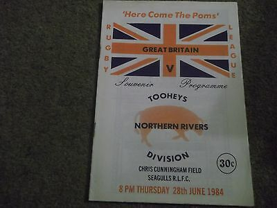 Northern Rivers Division V Great Britain Rugby League Tour Match 28Th June 1984