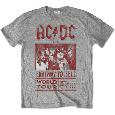 AC/DC Highway To Hell World Tour 1979/1980 T-Shirt OFFICIAL All Sizes Bon Scott