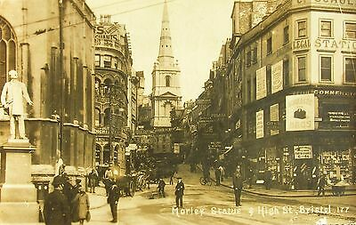 Animation Signage & Shop Fronts High Street Bristol 1919 Rp Pc