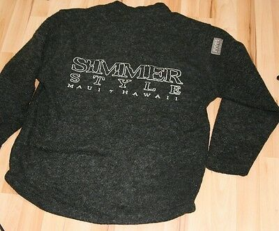 """Simmer Style Maui Hawaii Surf Thick Wool Blend Jumper Grey Size Small 44"""" Chest"""