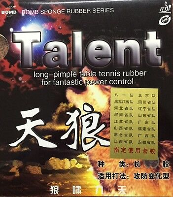 Bomb Talent Table Tennis Rubber - Amazing Value -  Now Only £6.50