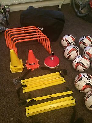 Mitre Football Speed Agility Kit With Carry Bag Sports Training & Exercise