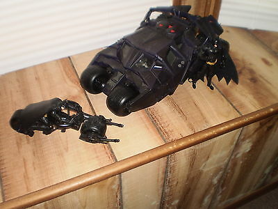 Batman Dark Knight Tumbler Batmobile With Eject Bike And Figures