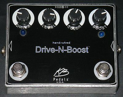 KB Pedals Hand Wired Drive-N-Boost Made in USA 100% Analog overdrive NOT A CLONE