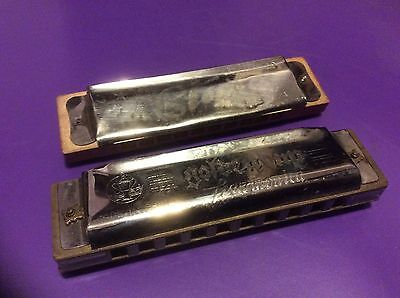 Two Vintage Harmonicas GOLDEN CUP and STAR Made in China Musical Instruments
