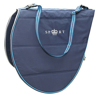 NEW Shires Sport Navy Padded Saddle Bag Protective Cover With Strap Up To 17.5""