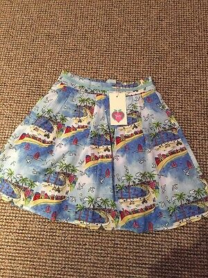 Stunning Girls Skirt From Yummy Age 11/12 Seaside Print - New With Tags