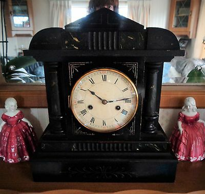 HAC Black Mantle Clock - Early 19thc - Empire Style