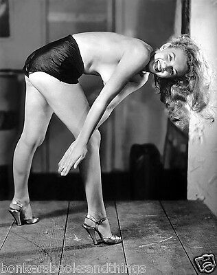 """A Young Marilyn Monroe 8.5 X 11"""" Photo Bending Over Topless In Heels"""