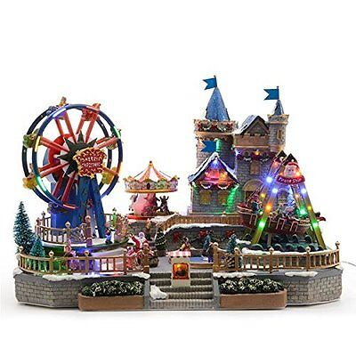 Giant LED Animated Musical Fairground Scene Collectable Indoor Christmas Display
